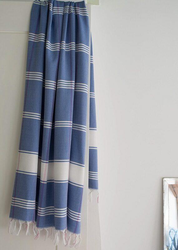 Sinine ökopuuvillast hammam rätik