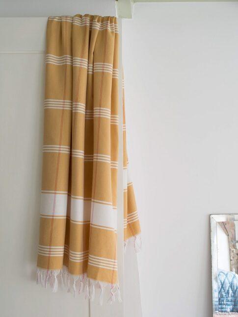 Kollane ökopuuvillast hammam rätik 3
