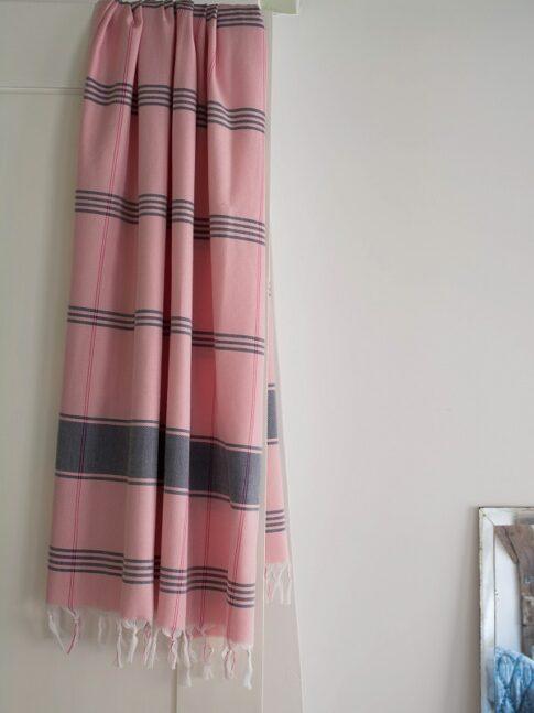 Roosa ökopuuvillast hammam rätik 3