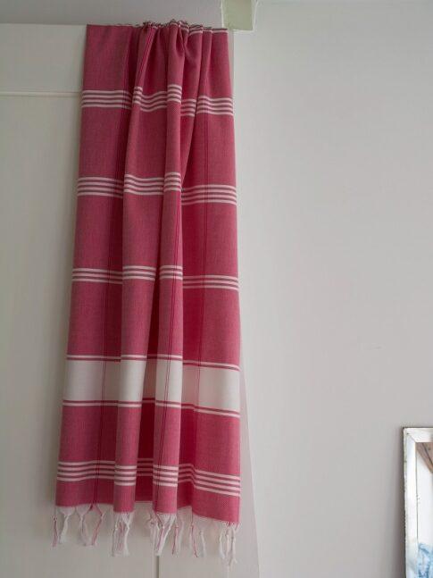 Punane ökopuuvillast hammam rätik 2