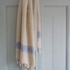 Valgete triipudega linane saunalina 2