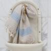 Siniste triipudega linane vannirätik 2