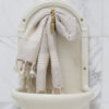 Rohelise tikandiga linane vannirätik 1