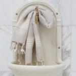 Helebeežide triipudega linane vannirätik