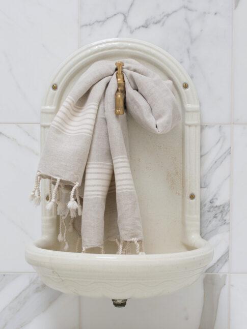 Helebeežide triipudega linane vannirätik 2