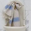 Kreeka siniste triipudega linane vannirätik 2