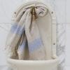 Lavendlivärvi triipudega linane vannirätik 1