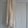 Lavendlivärvi triipudega linane saunalina 1