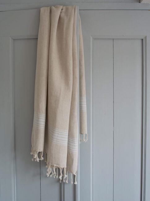 Helesiniste triipudega linane saunalina 3