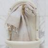 Helesiniste triipudega linane vannirätik 2