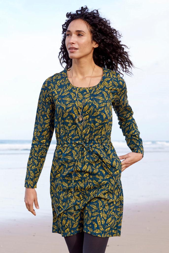 Biskaia sinine kroogitud vöökohaga lüotsellist kleit-tuunika
