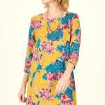 Mustrilisest velvetist kleit-tuunika