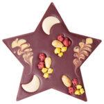 Šokolaaditäht vanillitäidisega