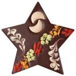 Vegan šokolaaditäht sarapuupähkli täidisega