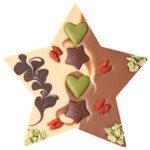 Vegan šokolaaditäht kreeka pähkli pralineega