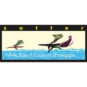 """Kihiline šokolaad """"Valge rumm – kookos - ananass"""""""