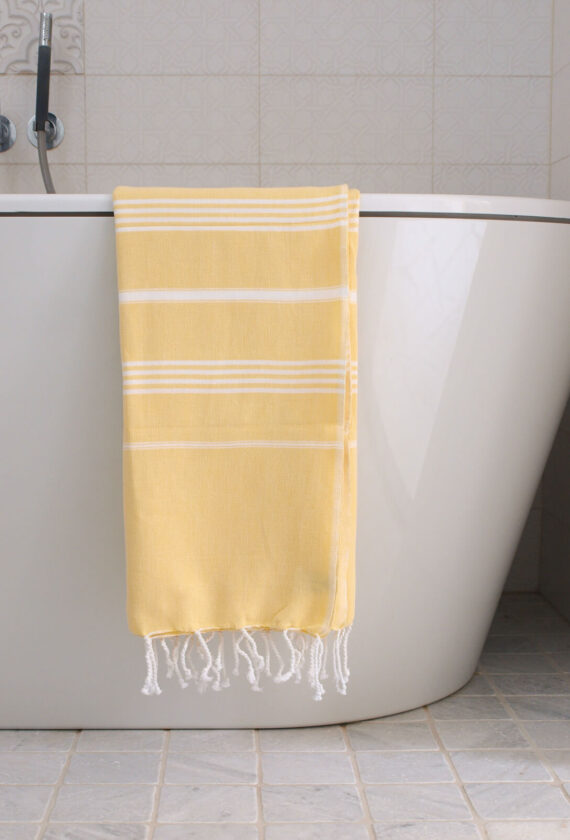Saunalina kollane / valge