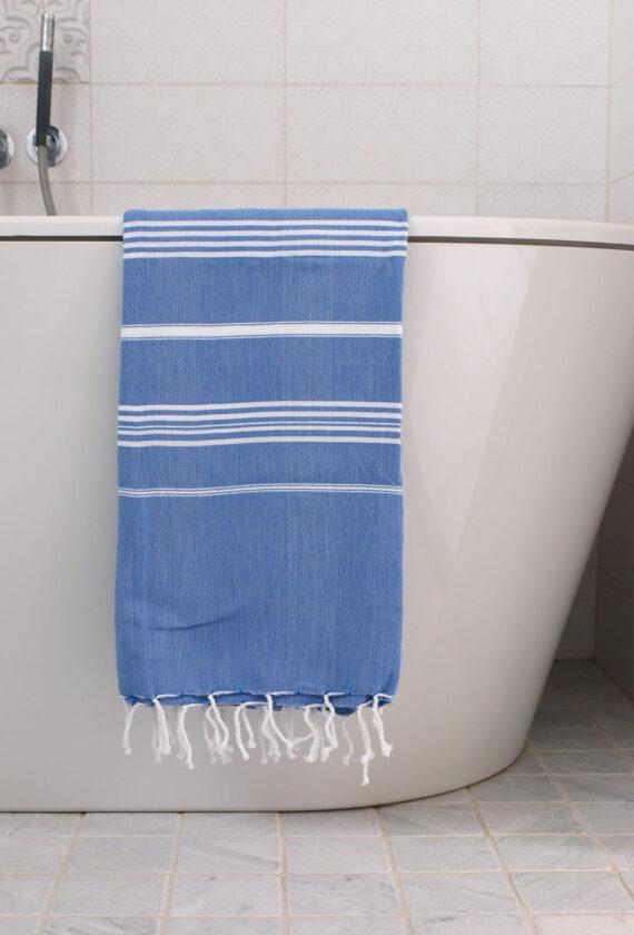 Saunalina kreeka sinine / valge