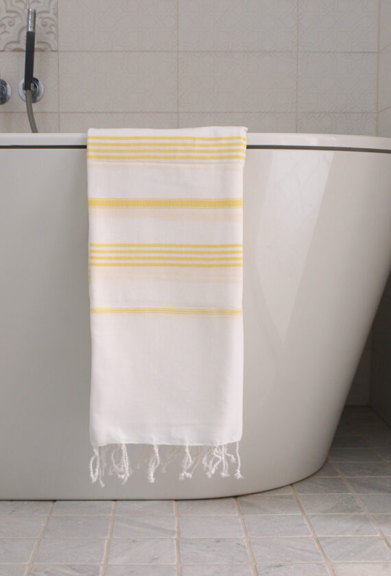 Saunalina valge / kollane