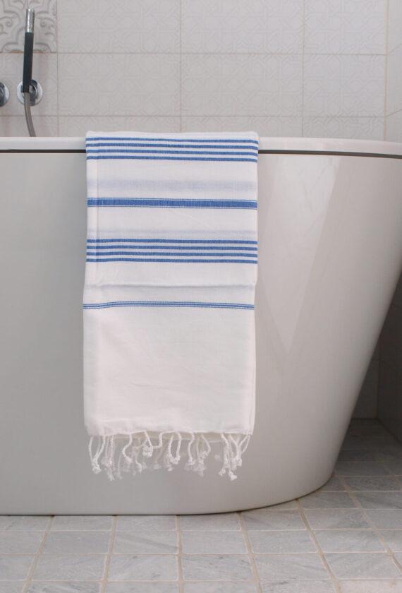 Saunalina valge / kreeka sinine