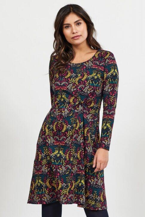 Sõlmseosega ökopuuvillast kleit