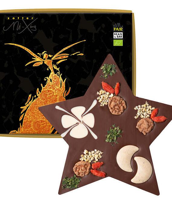 Šokolaaditäht sarapuupähkli tükikesega VEGAN