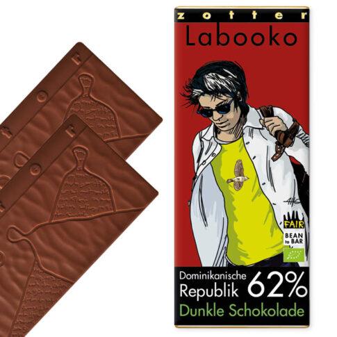 Zotter, tume šokolaad Dominikaani Vabariik 62%