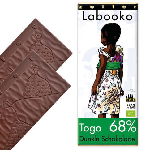 Zotter, tume šokolaad Togo 68%