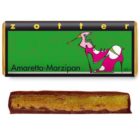 """Zotter, kihilise täidisega šokolaad """"Amaretto martsipan"""""""