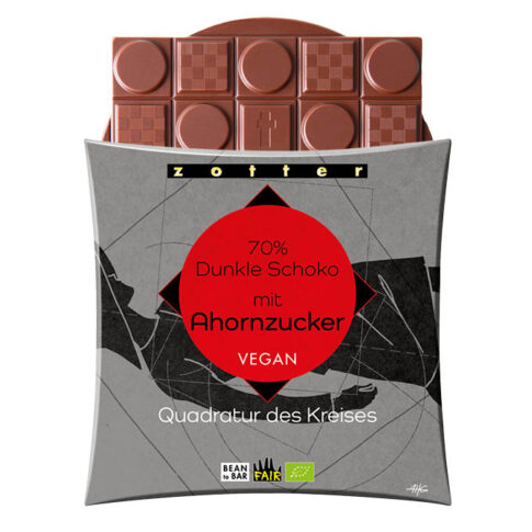 Zotter, 70% tume šokolaad vahtrasuhkruga