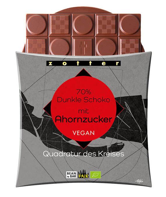 70% tume šokolaad vahtrasuhkruga, VEGAN