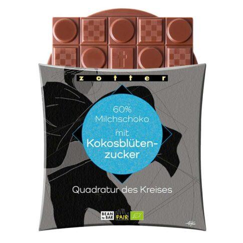 Zotter, piimašokolaad kookosõiesuhkruga