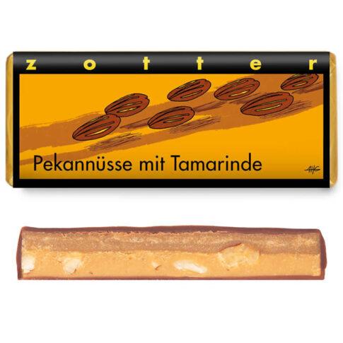 Zotter, Šokolaad pekaanipralinee ja tamarindi ganachega