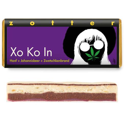 """Zotter, """"Xo Ko In"""", valge šokolaad kanepi-musta sõstraga"""