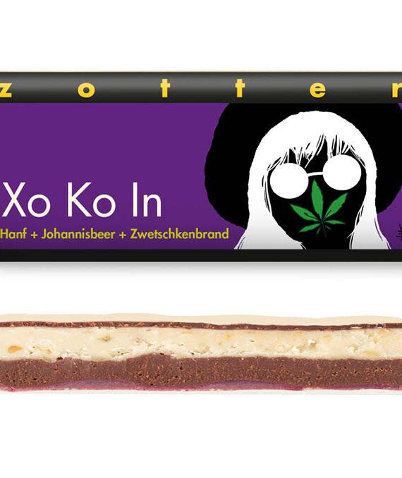 """""""Xo Ko In"""", valge šokolaad kanepi-musta sõstraga"""