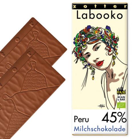 Zotter, Piimašokolaad 45% Peru