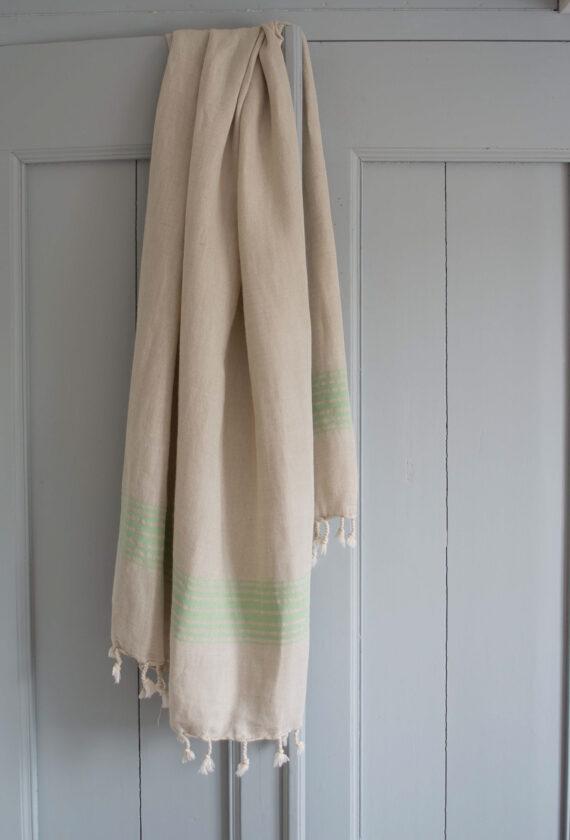Roheliste triipudega linane saunalina