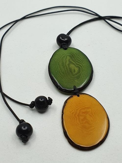 "Kaelakee ""Kira"", roheline-kollane"