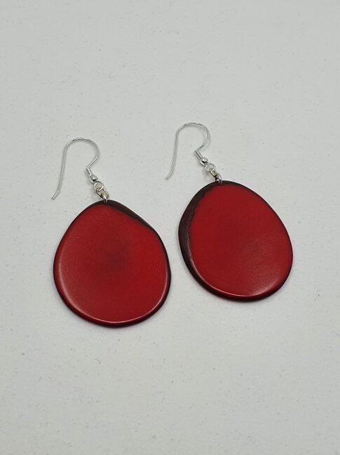 """Kõrvarõngad """"Carlaret"""", punane"""