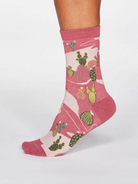 """Sokid """"Kaktus"""", tumeroosa"""
