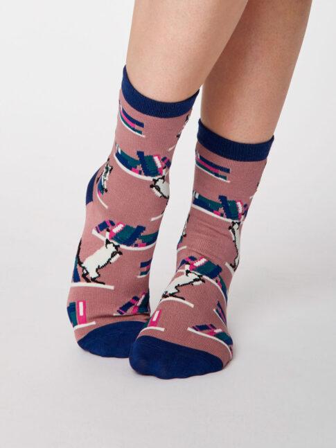 """Sokid """"Kui armastad kasse"""", roosiroosa"""