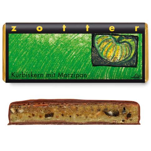 "Šokolaad ""Kõrvitsaseemned martsipaniga"", Zotter"