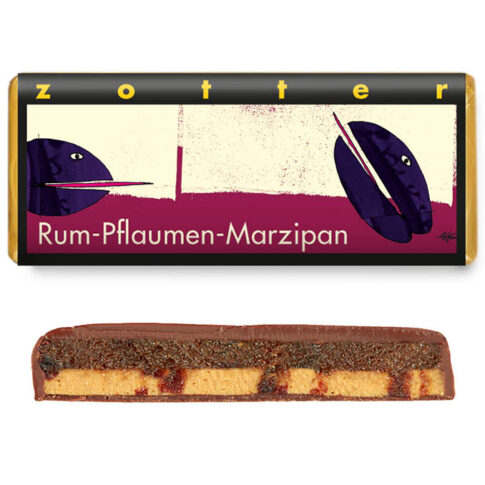 """Šokolaad """"Ploomid ja martsipan rummis"""", Zotter"""
