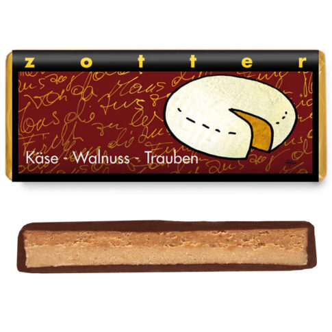"""Šokolaad """"Juust-pähklid-rosinad"""", Zotter"""