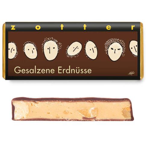 """Šokolaad """"Maapähkli krõbin soolaga"""", Zotter"""