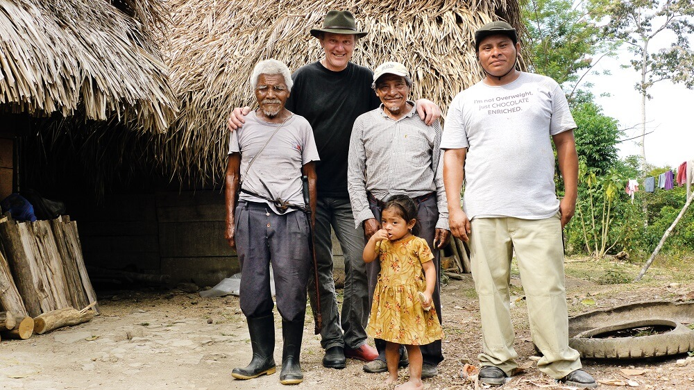 Josef Zotter ja Belize kakaokasvatajad