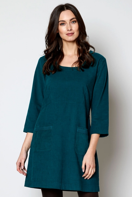 Peenetriibulisest velvetist kleit-tuunika